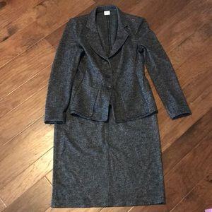Armani Collezioni Women's Wool Skirt Suit